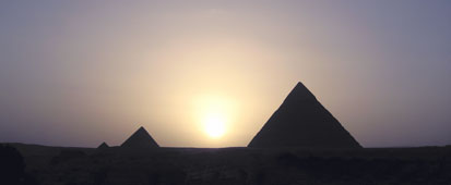 Sunset over the Giza Plateau
