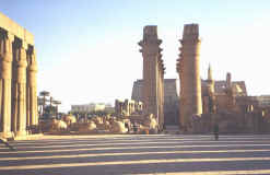 Amenhotep III courtyard, Luxor Temple