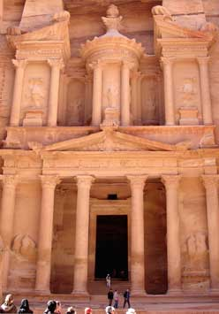 "Petra, Jordan - ""Treasury"" carved by Nabataens into the cliff"