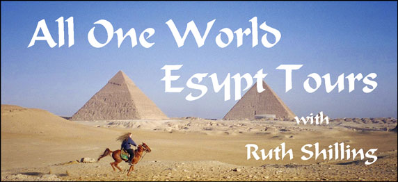 Egypt Tour Leader/Guide, Ruth Shilling, on an early morning ride at the pyramids of Giza