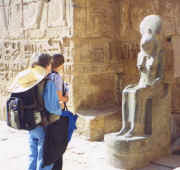 The Goddess Sekhmet holds counsel, Medinet Habu Temple, West Bank of Luxor