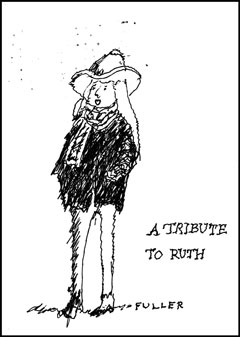 RUTH SHILLING by All One World traveler and NY Times cartoonist, Jack Fuller