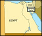 Map of Egypt showing where we will be camping