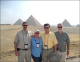 Law school buddies convene at the pyramids of Giza