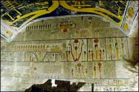 Tomb of Ramesses V&VI burial chamber, Valley of the Kings, West Bank of Luxor, Egypt. Photo: Ruth Shilling.